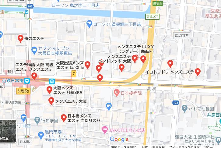 地図 日本橋 メンズエステ