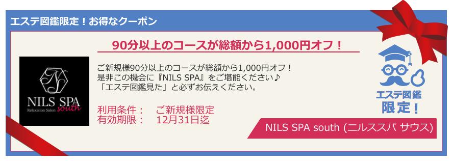 『NILS SPA south (ニルススパ サウス)』エステ図鑑